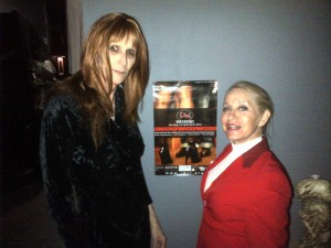 Mistress Cyan and I at Sanctuary-LAX with the IMsL poster Up!