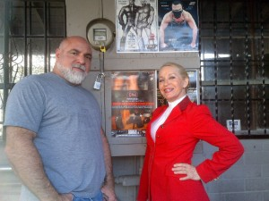 Charlie and I at LA Eagle with the IMsL poster up!